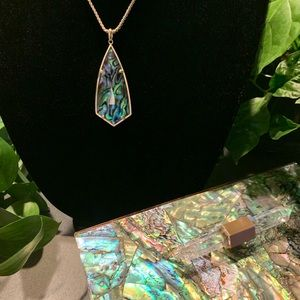 Kendra Scott CAROLE Abalone Necklace NWT